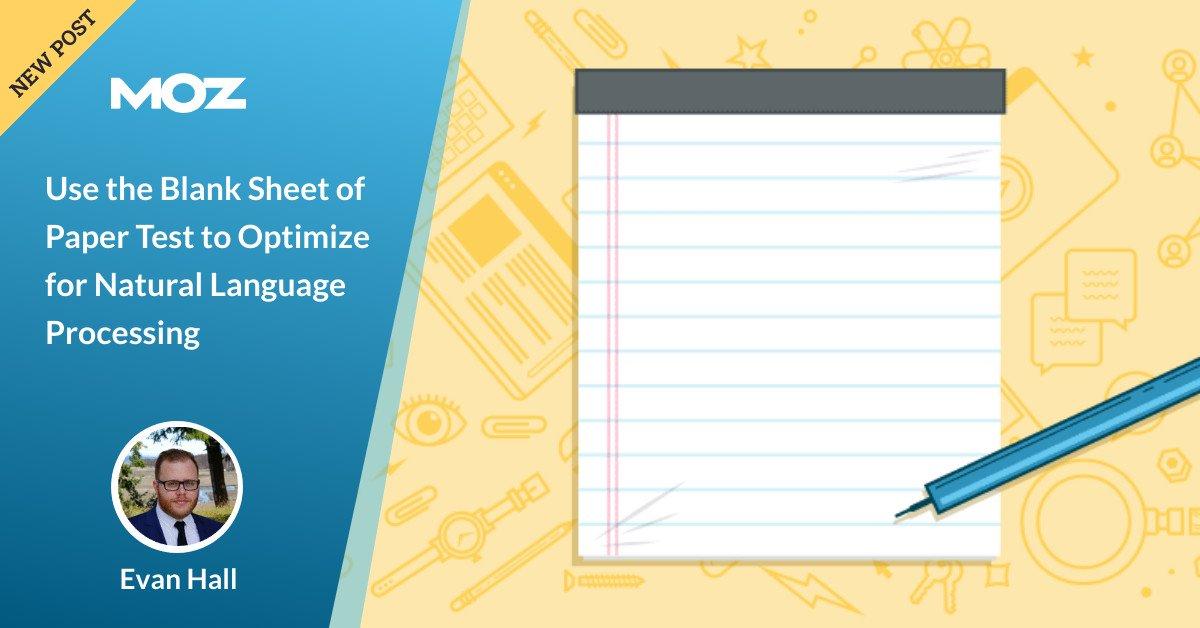 برای بهینه سازی برای پردازش زبان طبیعی از برگه آزمایشی کاغذ استفاده کنید