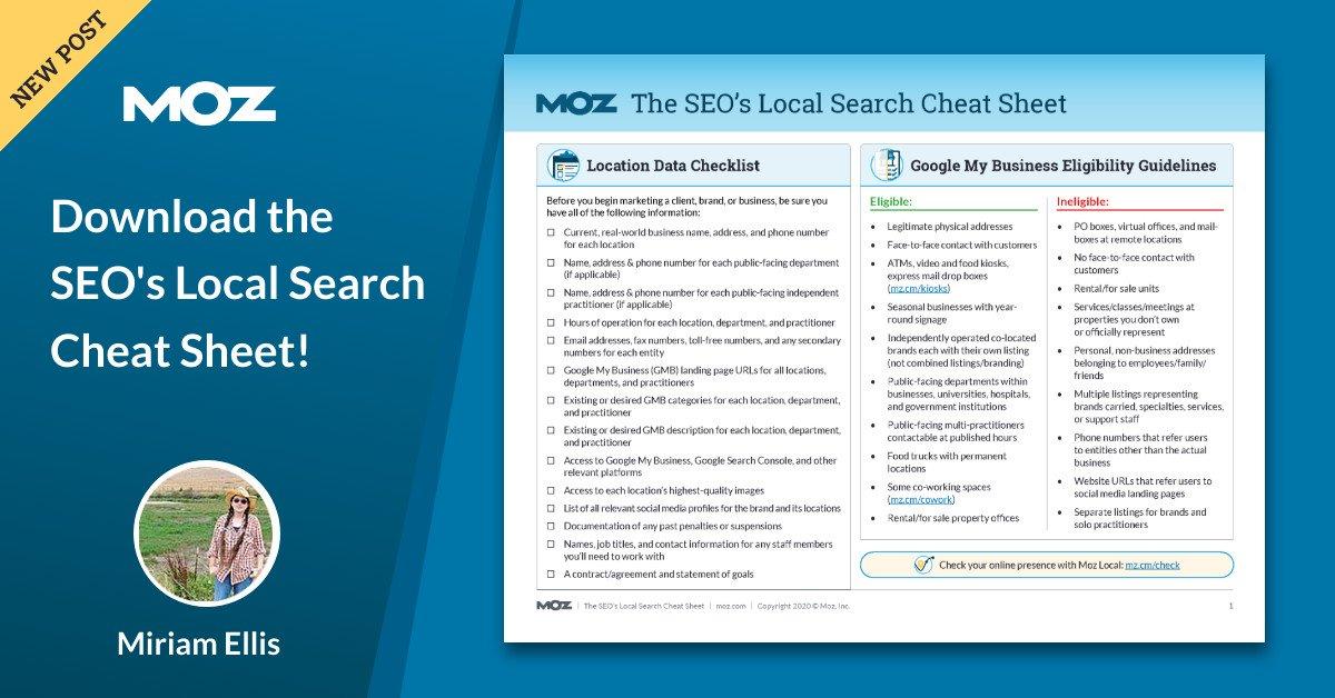 برگه تقلب جستجوی محلی SEO را جستجو کنید!