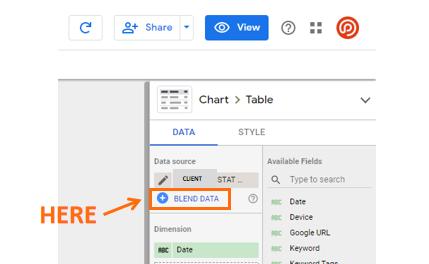 عکس گزارش در مورد رتبه بندی تغییرات با اتصالات Google Data Studio