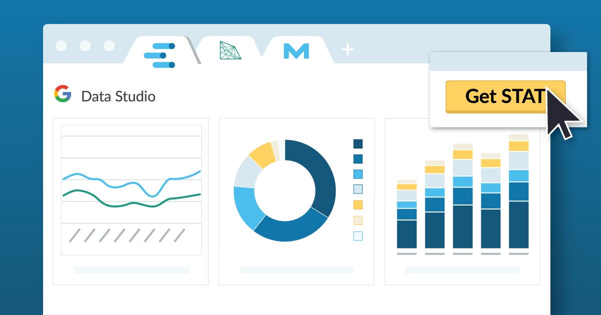 گزارش در مورد رتبه بندی تغییرات با اتصالات Google Data Studio