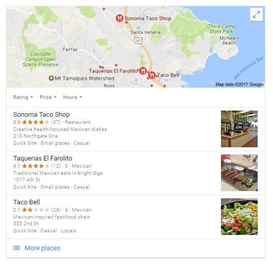 عکس داده های مکان + نظرات: 1-2 سئو محلی (به روز شده در سال 2020)