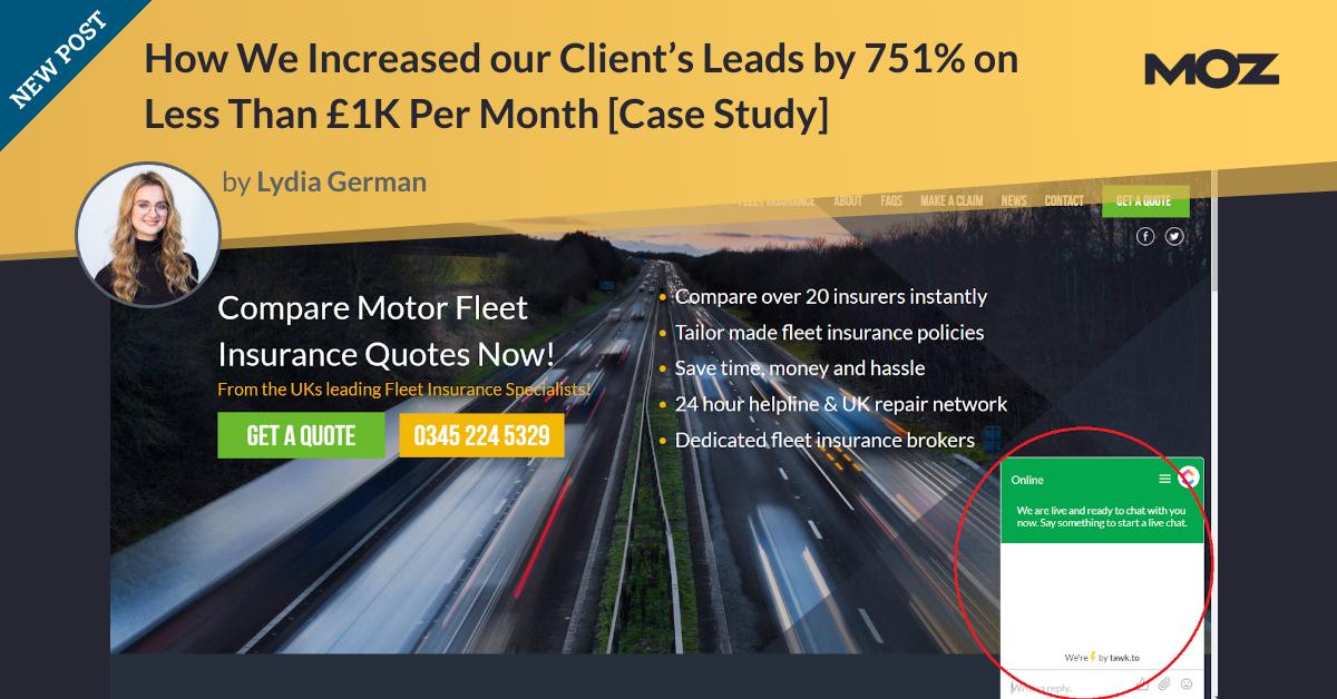چگونه در کمتر از 1K پوند در ماه ، 751٪ منجر به افزایش مشتری خود شد [Case Study]