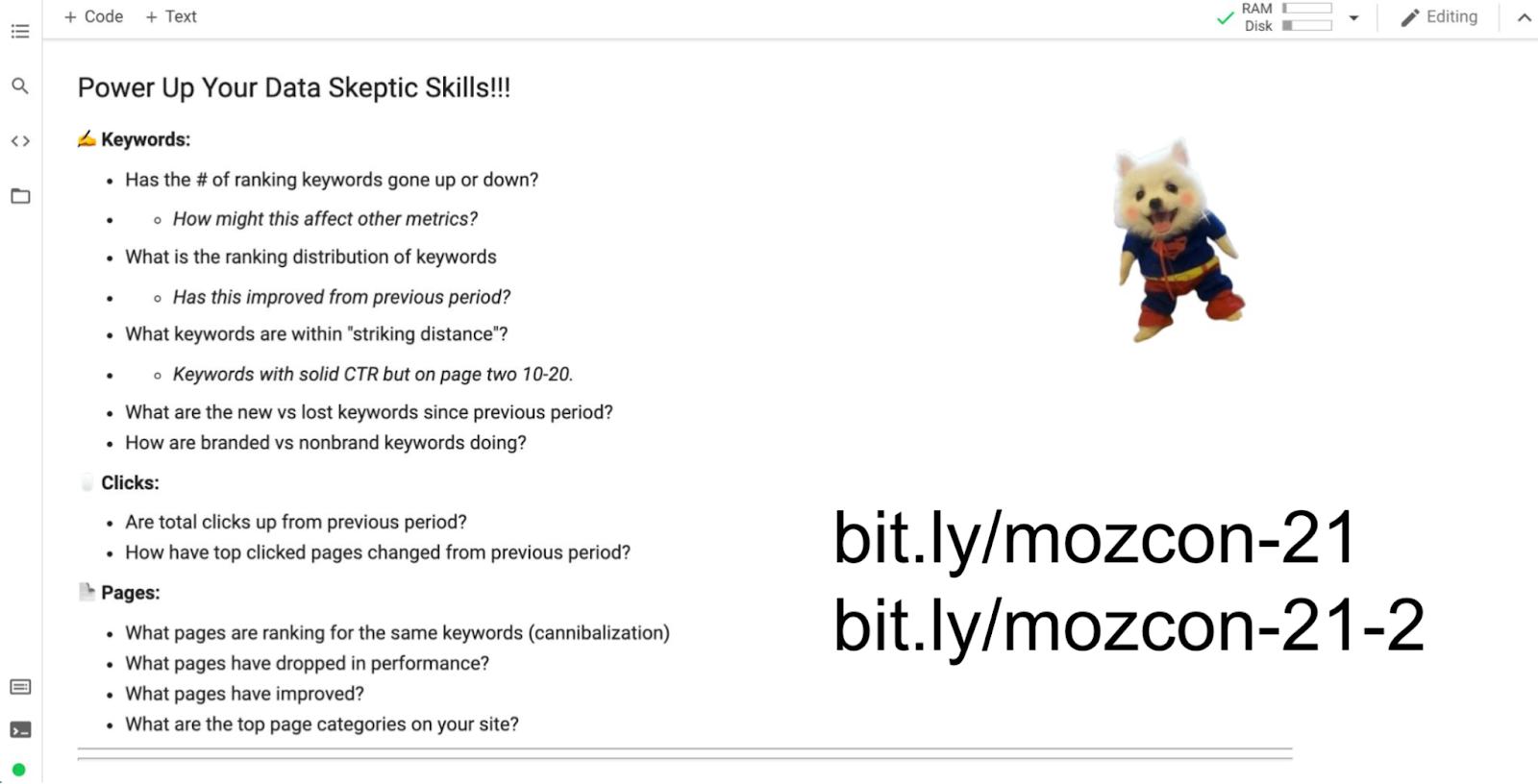 عکس یادگیری روز دوم از سیرک MozCon سه حلقه ای